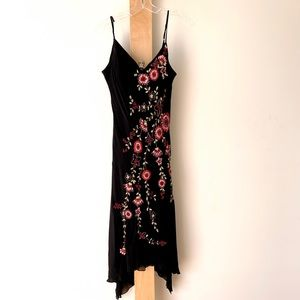 Sue Wong embroidered silk slip dress